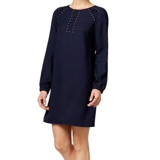 Jessica Simpson NEW Navy Blue Lace Studded Women's Size 2 Shift Dress