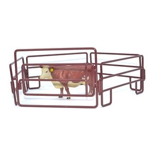Little Buster Toy Heavy Duty Metal Walk Through Gate Red 500220