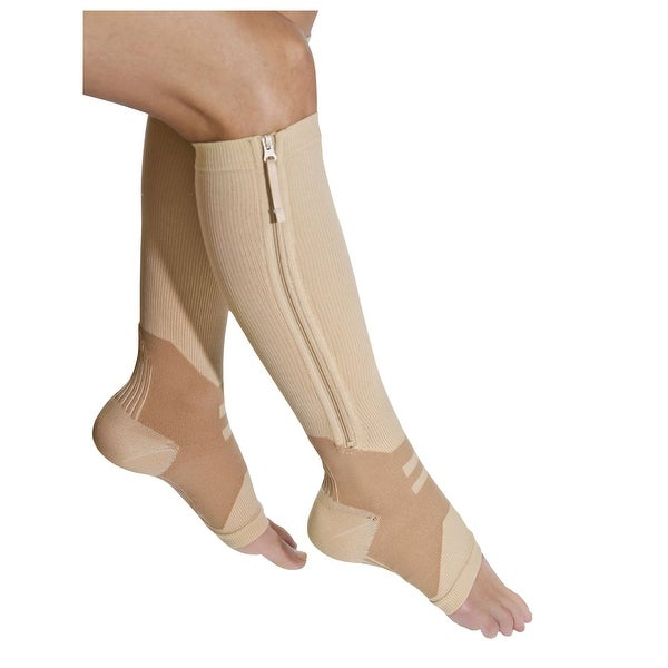 Women's Zip Up Moderate Compression Socks with Arch Support
