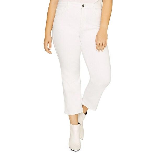 Sanctuary Denim Womens Plus Straight Leg Jeans Denim High-Rise - Angelo White. Opens flyout.