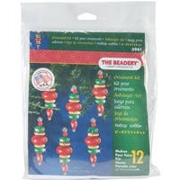 """Holiday Beaded Ornament Kit-Victorian Baubles 2.25""""X.75"""" Makes 12"""