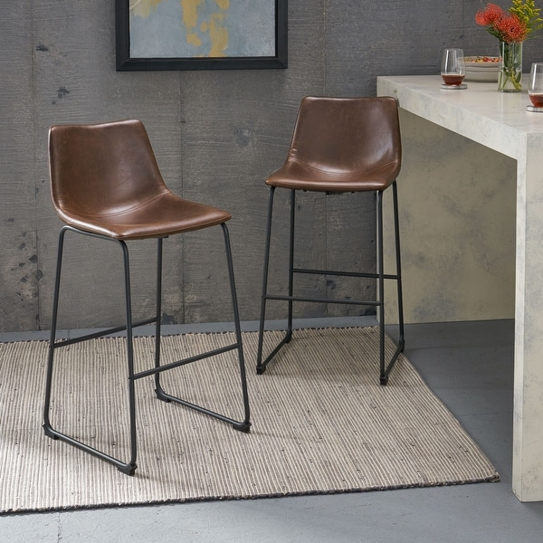 Carbon Loft Diggory 30-inch Faux Leather Barstools (Set of 2). Opens flyout.