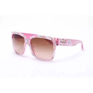 Dolce & Gabanna Allover Graphic Design Sunglasses Pink/Graphic - Small