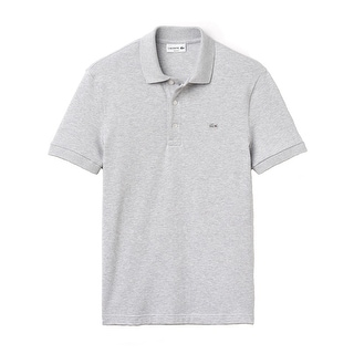 Lacoste Mens Stretch Pique Polo in Silver Chine
