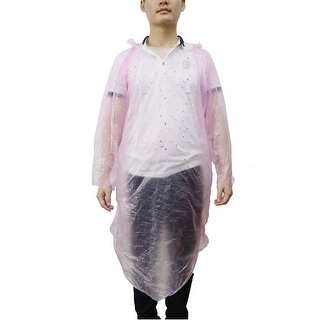 Pink Disposable Rain Coat Raincoat Poncho Camping Hiking Emergency
