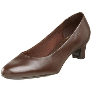 Trotters Womens Janna Leather Solid Round Toe Heels