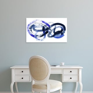 Easy Art Prints Grace Popp's 'Blue Kinesis I' Premium Canvas Art