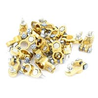 Unique Bargains Vehicle Car Gold Tone Straight Battery Terminal Replacement 20 Pcs