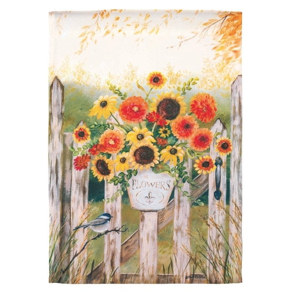 "Yellow and Orange Garden Gate Printed Rectangular Garden Flag 42"" x 29"" - N/A"