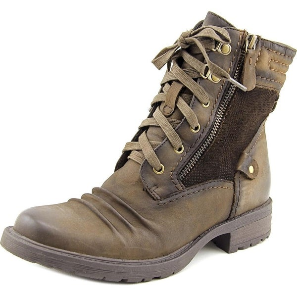 Earth Summit Women Round Toe Leather Brown Boot