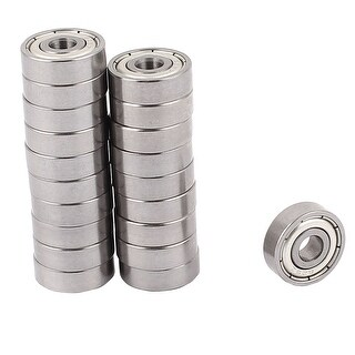 Unique Bargains 20 Pcs Skateboard 5mmx16mmx5.5mm Metal Sealed Shielded Deep Groove Ball Bearing