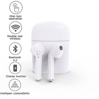 2018 Bluetooth 4.2 Wireless EarPod Headphone - Stereo Sync + Charging Pod - for iOS & Android