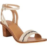 EMU Women's Shana Ankle Strap Sandal Bleach Sand Leather
