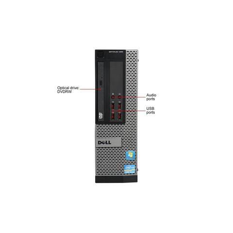 Dell Optiplex 990 DT Refurbished PC - Intel Core i3 2120 2nd Gen 3.3 GHz 8GB 160GB SSD +500GB DVD-RW Windows 10 Pro 64-Bit