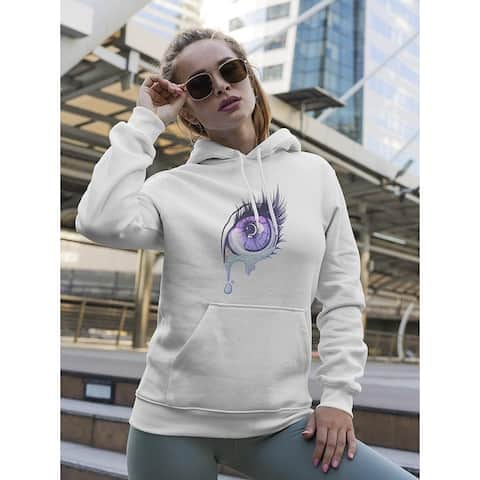 Crying Eye In Anime Style Hoodie Women's -Image by Shutterstock