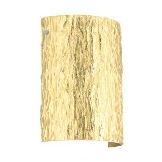 BESA Lighting 7090GF Tamburo 1 Light ADA Compliant Wall Sconce with Stone Gold Foil Glass Shade