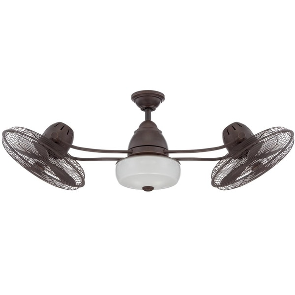 "Craftmade Bellows II 48"" Indoor / Outdoor Dual Headed Fan - Blades, Remote and Light Kit Included"