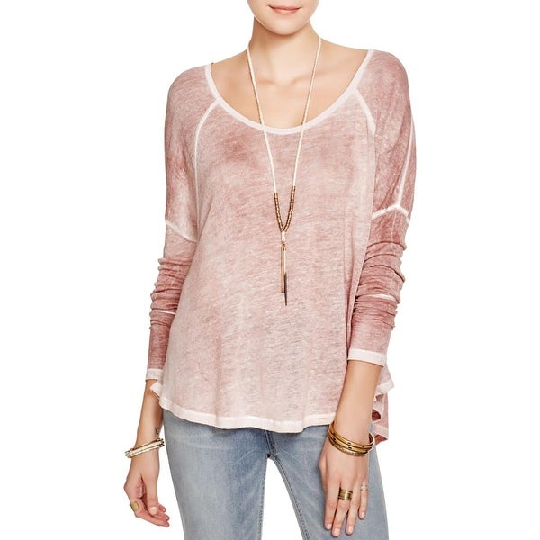 We The Free Womens Macchiato Casual Top Linen Heathered