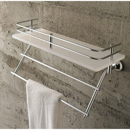 Nameeks 1538 Toscanaluce Glass Bathroom Shelf - Chrome