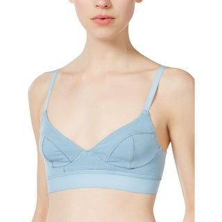 Free People Womens Madison Soft Cup Bra Tonal Dot Pattern Pull On