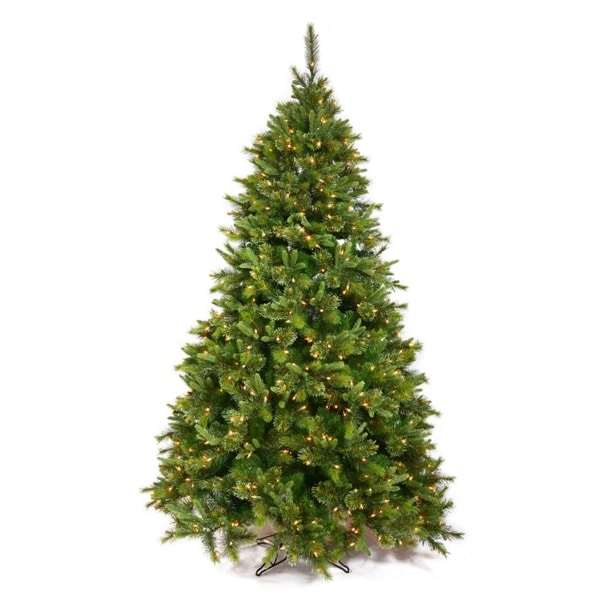 4.5' Pre-Lit Mixed Cashmere Pine Full Artificial Christmas Tree - Clear Dura Lights