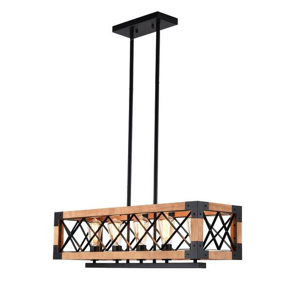 Carbon Loft Scheman Industrial 6 Light Linear Kitchen Island Pendant Overstock 30272294