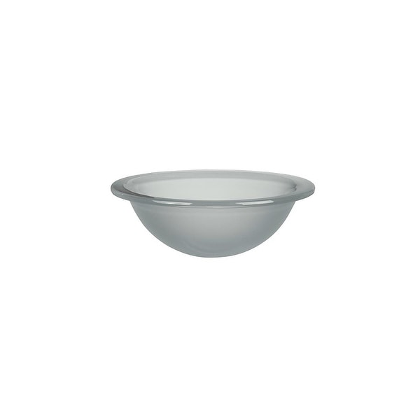 """DecoLav 1000TU Terra 17-3/4"""" Round Undermount or Drop In Glass Lavatory Sink - Frosted Crystal"""