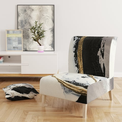Designart 'Glam Painted Arcs II' Upholstered Transitional Accent Chair