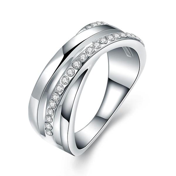 1/4 Carat Simulated Diamond Tungsten Ring