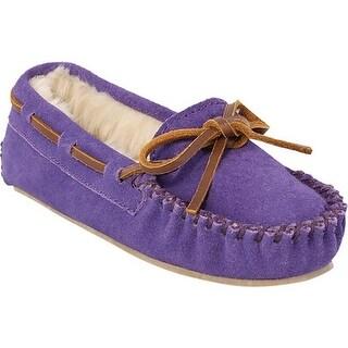 Minnetonka Girls' Cassie Slipper Purple Suede