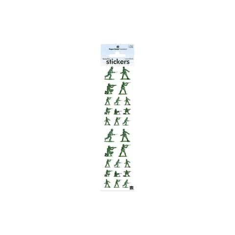 St-2188e paper house sticker army men