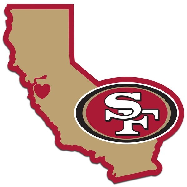 best service 7bac3 027f2 San Francisco 49ers Decal Home State Pride
