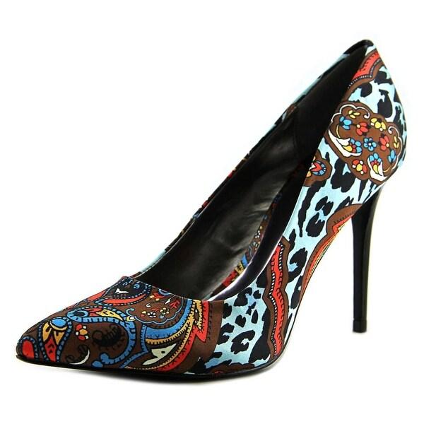 Carlos by Carlos Santana Posy Women Pointed Toe Canvas Blue Heels