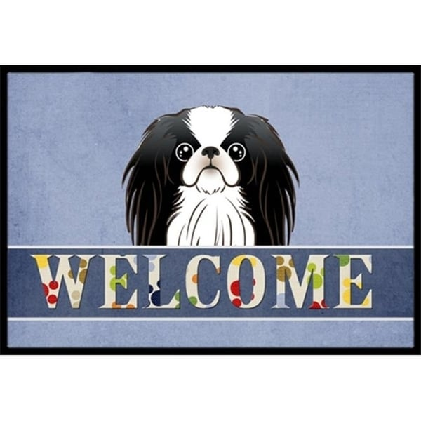 Carolines Treasures BB1416JMAT Japanese Chin Welcome Indoor & Outdoor Mat 24 x 36 in.