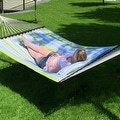 Sunnydaze 2-Person Quilted Hammock with Spreader Bars and Detachable Pillow - Thumbnail 26
