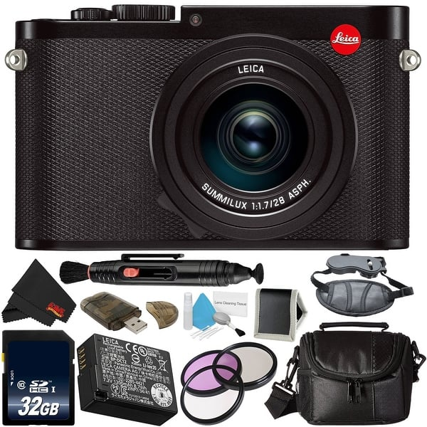 Shop Black Friday Deals On Leica Q Typ 116 24 2 Mp Digital Camera Bundle Overstock 23042220 Black