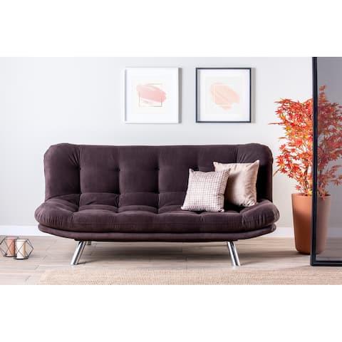 Morris 3 Seat Metal Frame, Biscuit Back, Armless Sleeper Sofa