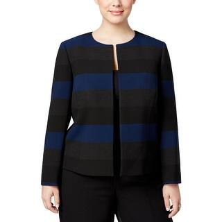 Tahari Womens Plus Blazer Striped Collarless https://ak1.ostkcdn.com/images/products/is/images/direct/e67907baca95beca0d4ad9826d9ba4f647990108/Tahari-Womens-Plus-Blazer-Striped-Lined.jpg?impolicy=medium