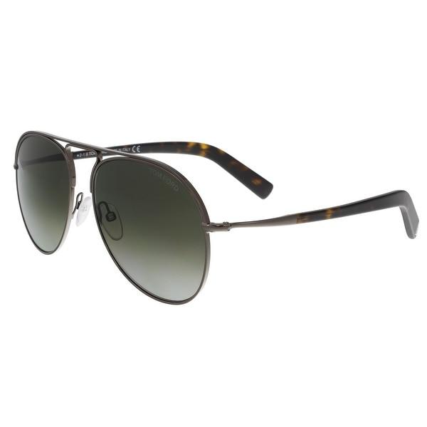 Tom Ford FT0448 08B CODY Gunmetal Aviator Sunglasses - 56-15-145