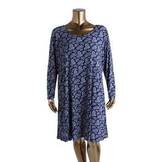MICHAEL Michael Kors Womens Paisley Long Sleeves Wear to Work Dress