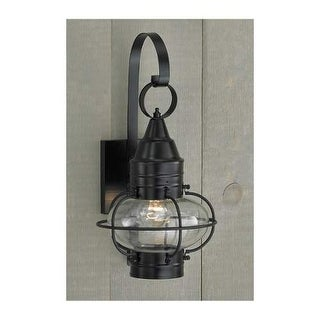 "Norwell Lighting 1513 Classic Onion Single Light 16"" Tall Outdoor Wall Sconce with Glass Shade"