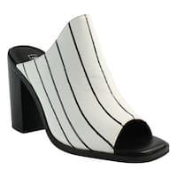 Sol Sana Womens White Open Toe Heels Size 7