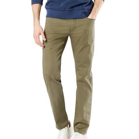 Dockers Mens Chino Pants Green Size 38x32 Jean-Cut Slim Fit Stretch