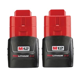 Replacement 3000mAh Battery for Milwaukee 2415-20 / 2451-22 / 2471-21 Power Tools (2 Pk)