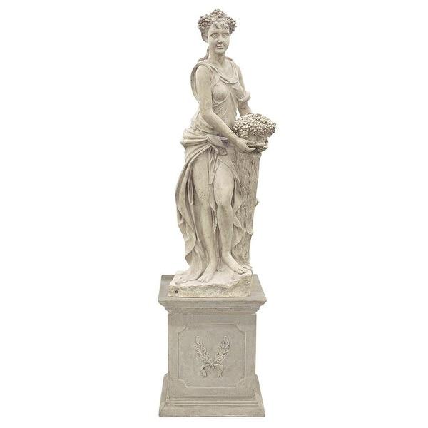 Design Toscano The Four Goddesses of the Seasons Statue: Autumn Statue & Plinth