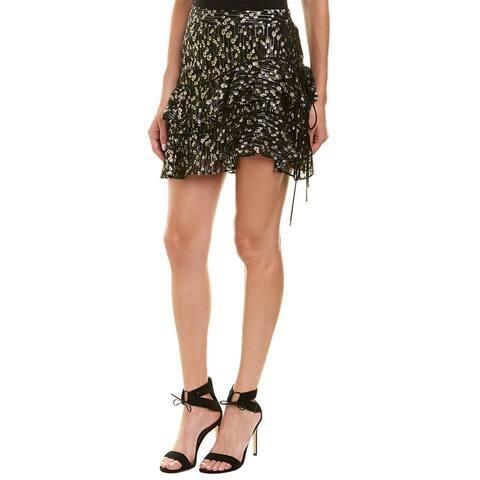 Derek Lam 10 Crosby Ruffle Silk-Blend Mini Skirt