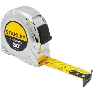 Stanley STHT30160W Tape Measure, Chrome, 30'