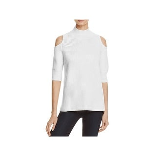 Zoe Jordan Womens Mock Sweater Cold Shoulder Mock Neck