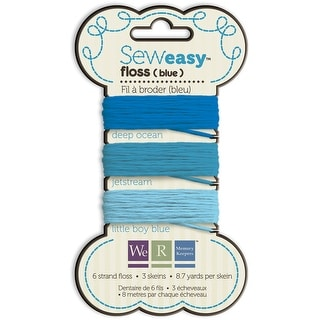 Sew Easy Solid 6-Strand Floss 8.7yd 3/Pkg-Blue
