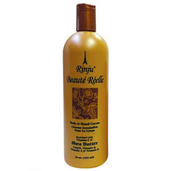Rinju Beaute Reelle Body And Hand Lotion, 16 Ounces - Orange